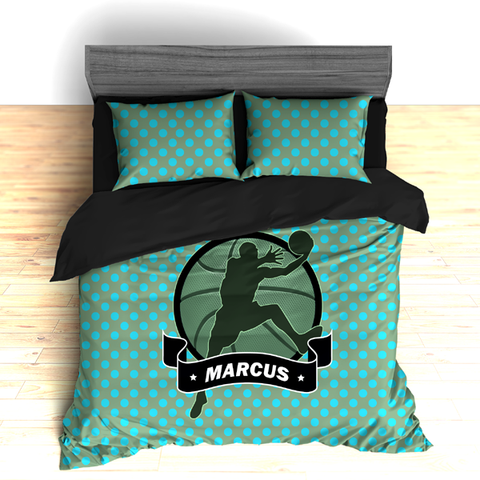 Personalized Basketball Dimples Theme Bedding, Duvet or Comforter - 2cooldesigns