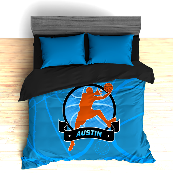 Personalized Basketball Stripes Theme Bedding, Duvet or Comforter Sets - 2cooldesigns