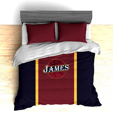 Basketball Team Colors Personalized Bedding, Duvet or Comforter Sets - 2cooldesigns
