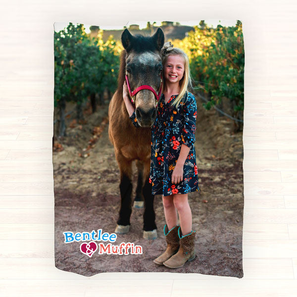 Photo Fleece Blanket - Personalized Picture Blanket, Personalized Throw Blanket - Gift Ideas