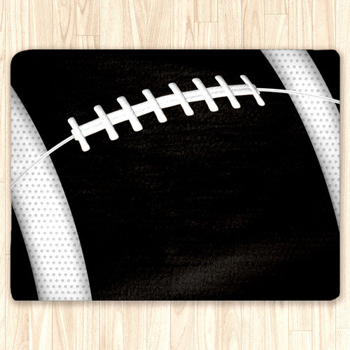 Custom Football Area Rug, Personalized, Team Colors, black and white - 2cooldesigns
