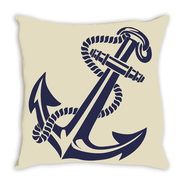 Nautical Anchor Throw Pillow Khaki - 2cooldesigns
