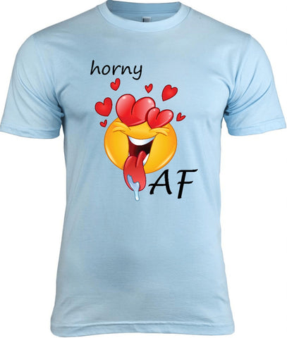 Horny AF Emoji T-Shirt, Tee Shirts with Emoticons - 2cooldesigns