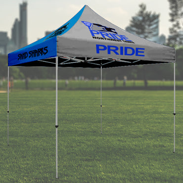 10x10 Personalized Popup Canopy Tent - Sublimated, Printed with Your Design - with or without frame - 2cooldesigns