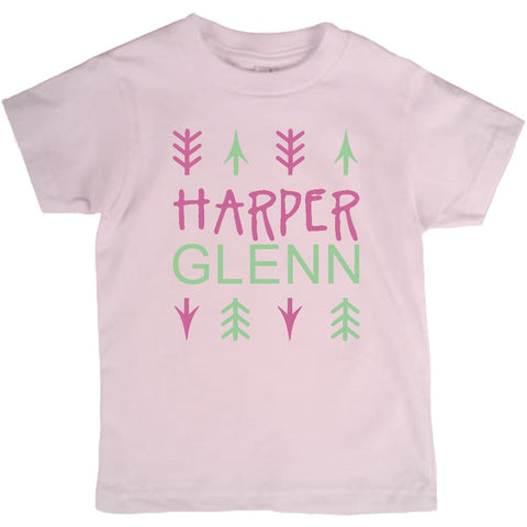 Arrows and Name, Monogram Toddler Tshirt - 2cooldesigns