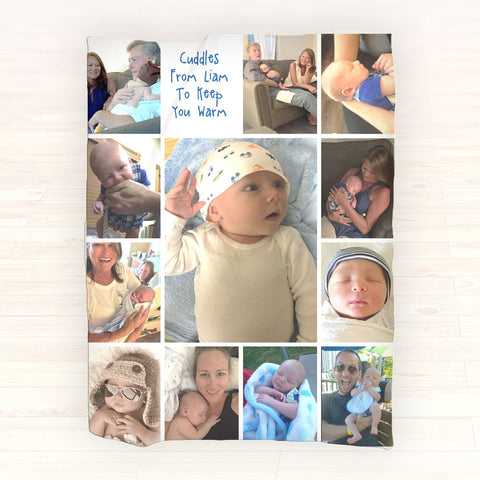 Personalized Photo Fleece Blanket - Picture Blanket, Personalized Throw Blanket - Gift Ideas - 2cooldesigns