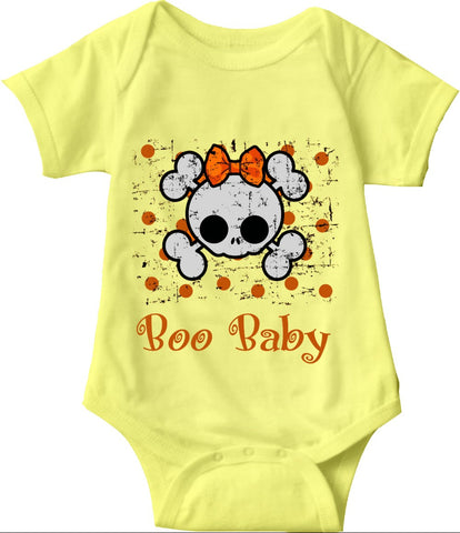 Boo Baby Onsies, Skull and Bones Pullover for Babies and Toddlers