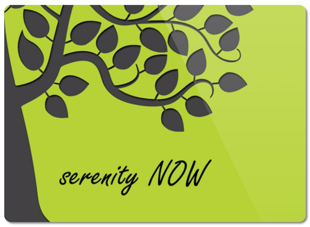 Serenity Now Glass Cutting Board - 2cooldesigns