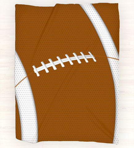 Personalized Fleece Blanket Throw - Personalized Football Throw Blanket - Team Colors - 2cooldesigns