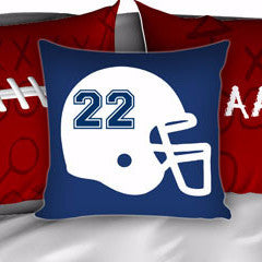 Football Player Bedding, Personalized Bedding, Football Bedding, Red, White and Blue - 2cooldesigns