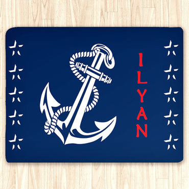 Nautical Anchor Area Rug Custom, Personalized Area Rugs and Mats - 2cooldesigns