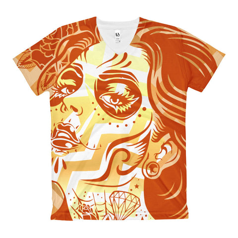 Vixen Zig Zag Women's V-Neck T-Shirt - 2cooldesigns