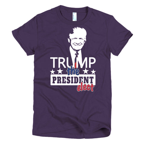 TRUMP, President Elect, Short sleeve women's t-shirt, Dark Colors - 2cooldesigns