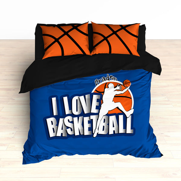 Blue Basketball Bedding, Personalized