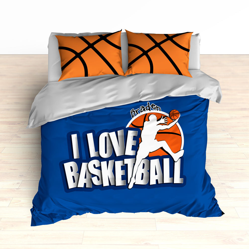 Blue Basketball Bedding, Personalized - 2cooldesigns