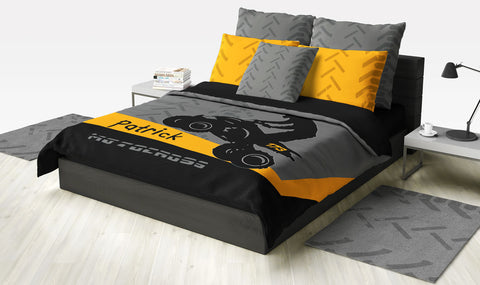 ATV Dirt Bike Quad Motocross Bedding Orange - 2cooldesigns