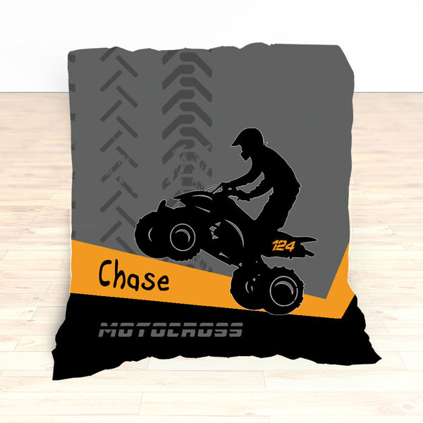 ATV Dirt Bike Quad Motocross Bedding Orange