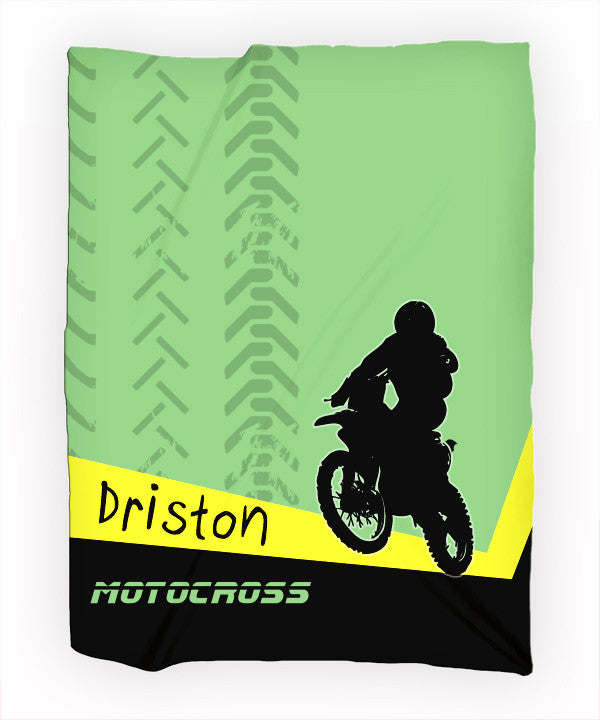 Personalized Fleece Blanket Throw - Personalized Motocross Throw Blanket - Gift Idea - 2cooldesigns