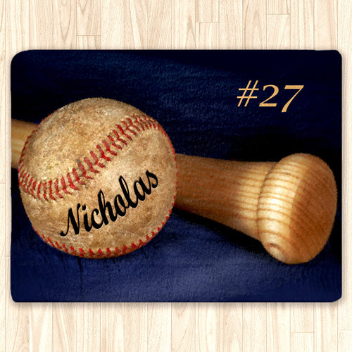 Custom Baseball Fuzzy Area Rug, Personalized - 2cooldesigns