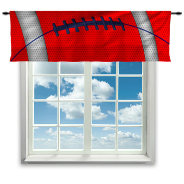 Football Team Colors Window Curtain or Valance, Red, White and Blue - 2cooldesigns