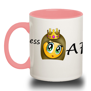 PRINCESS ?? AF Accent Coffee Mug - 2cooldesigns