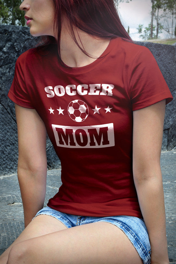 Soccer Mom Women's short sleeve t-shirt (White Print on Dark Colors)