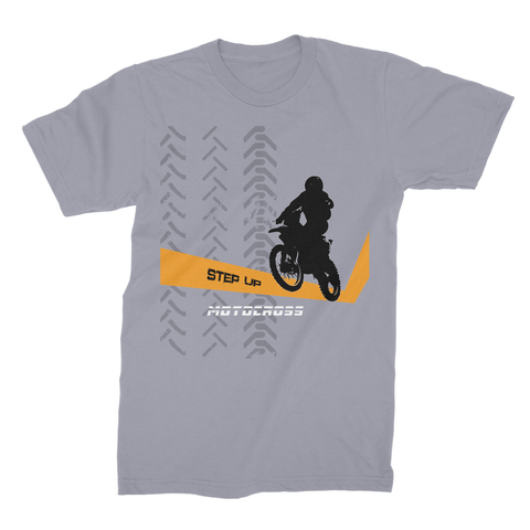 Motocross Orange and Black Unisex Fine Jersey T-Shirt - 2cooldesigns