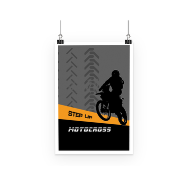 Motocross Orange and Black Poster - 2cooldesigns