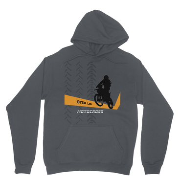 Motocross Orange and Black Heavy Blend Hooded Sweatshirt - 2cooldesigns