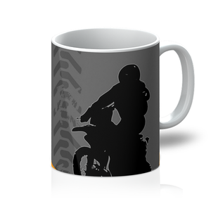 Motocross Orange and Black Coffee Mug