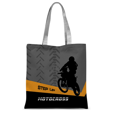 Motocross Orange and Black Tote Bag - 2cooldesigns