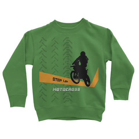Motocross Orange and Black Kids Sweatshirt - 2cooldesigns