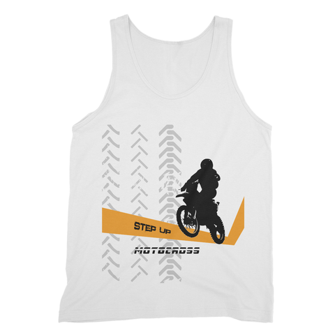 Motocross Orange and Black Fine Jersey Tank Top - 2cooldesigns