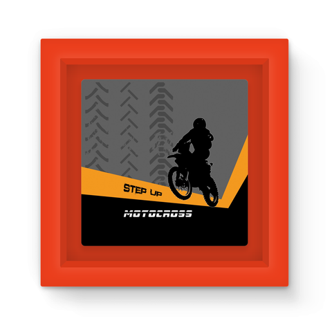 Motocross Orange and Black Magnet Frame - 2cooldesigns
