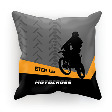 Motocross Orange and Black Cushion - 2cooldesigns