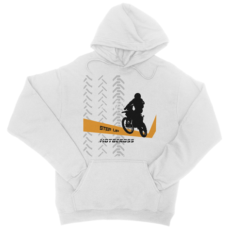 Motocross Orange and Black College Hoodie - 2cooldesigns