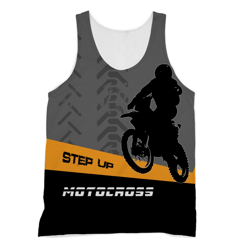 Motocross Orange and Black Sublimation Vest - 2cooldesigns