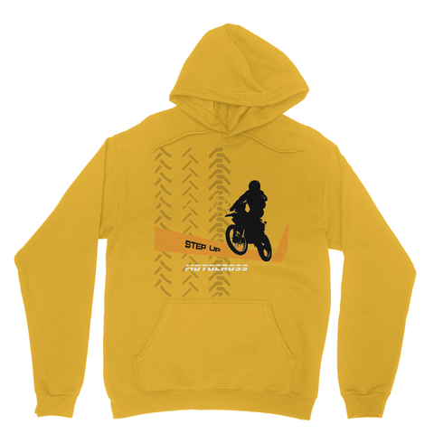 Motocross Orange and Black Heavy Blend Hooded Sweatshirt