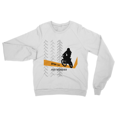 Motocross Orange and Black Heavy Blend Crew Neck Sweatshirt - 2cooldesigns