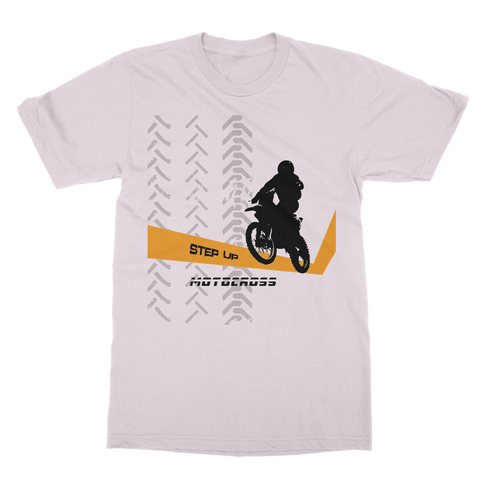 Motocross Orange and Black Softstyle Ringspun T-Shirt - 2cooldesigns