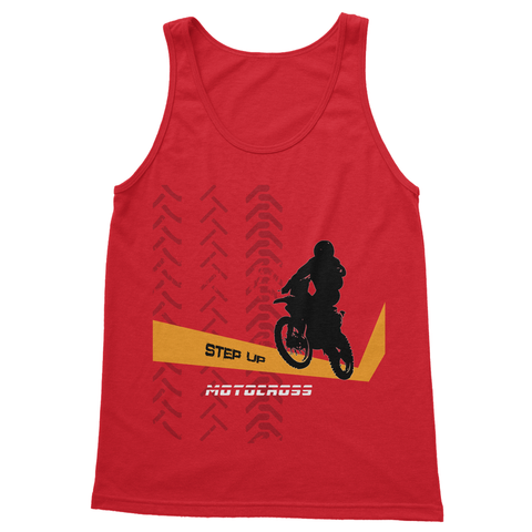 Motocross Orange and Black Softstyle Tank Top