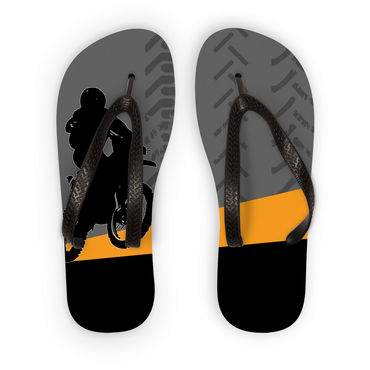 Motocross Orange and Black Flip Flops - 2cooldesigns
