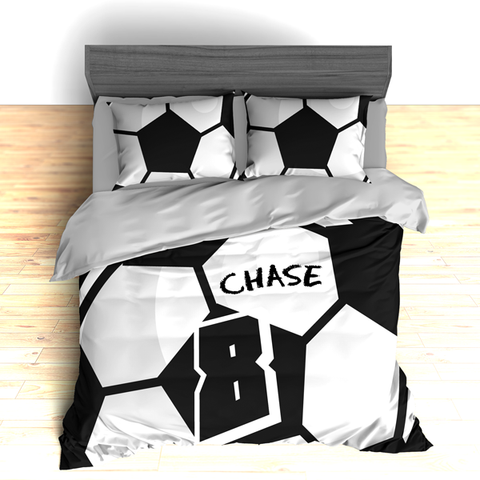 Custom Soccer Theme Bedding, Personalized Duvet or Comforter Sets - 2cooldesigns