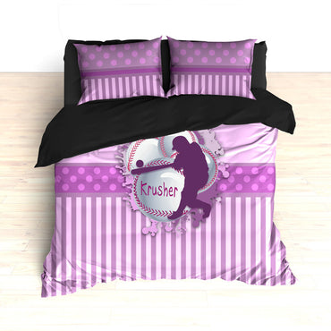 Softball Themed Bedding, Duvet or Comforter Sets, Softball Design - 2cooldesigns