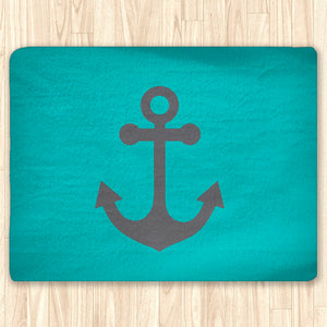 Custom Nautical Area Rug Fuzzy, Personalized Area Rugs and Mats