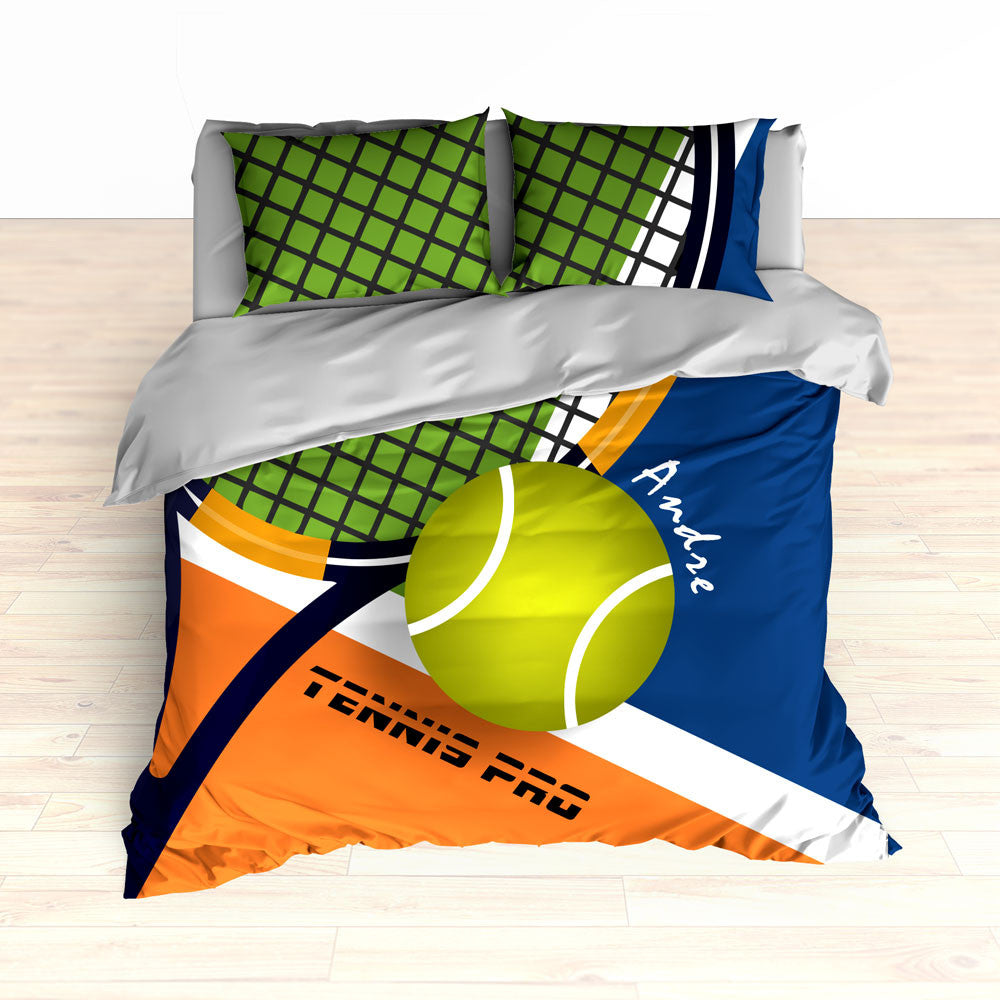 Tennis Bedding, Tennis Comforter, Tennis Duvet, Personalized Kids bedding, Custom Tennis Bed - 2cooldesigns