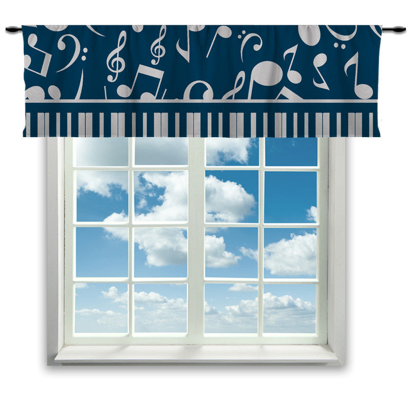 Musical Notes Window Curtain or Valance - 2cooldesigns