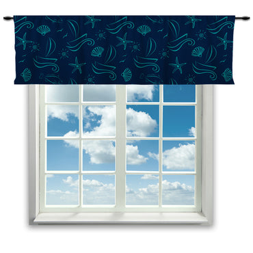 Nautical Window Curtain or Valance - 2cooldesigns