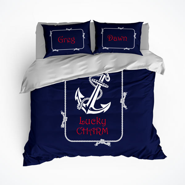 Nautical Anchor Theme Bedding, Duvet or Comforter Sets - 2cooldesigns