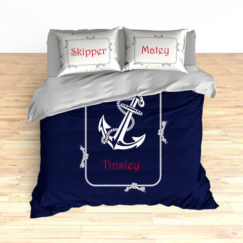 Nautical Anchor Theme Bedding, Duvet or Comforter Sets